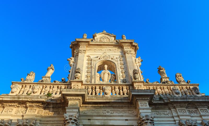 Het fragment van de Leccekathedraal, Lecce, Italië stock afbeelding
