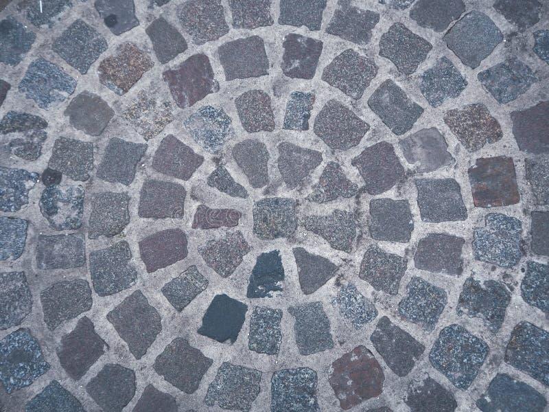 Het fragment van een bestrating in de vorm van een cirkel stock foto