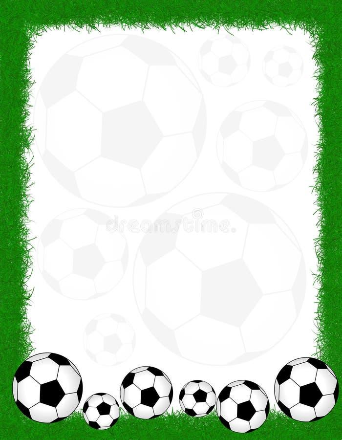 Het frame/de grens van het voetbal stock illustratie
