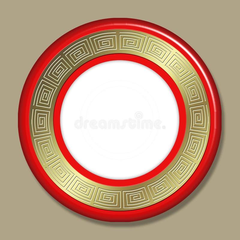 Het frame of de plaat van het art deco royalty-vrije illustratie