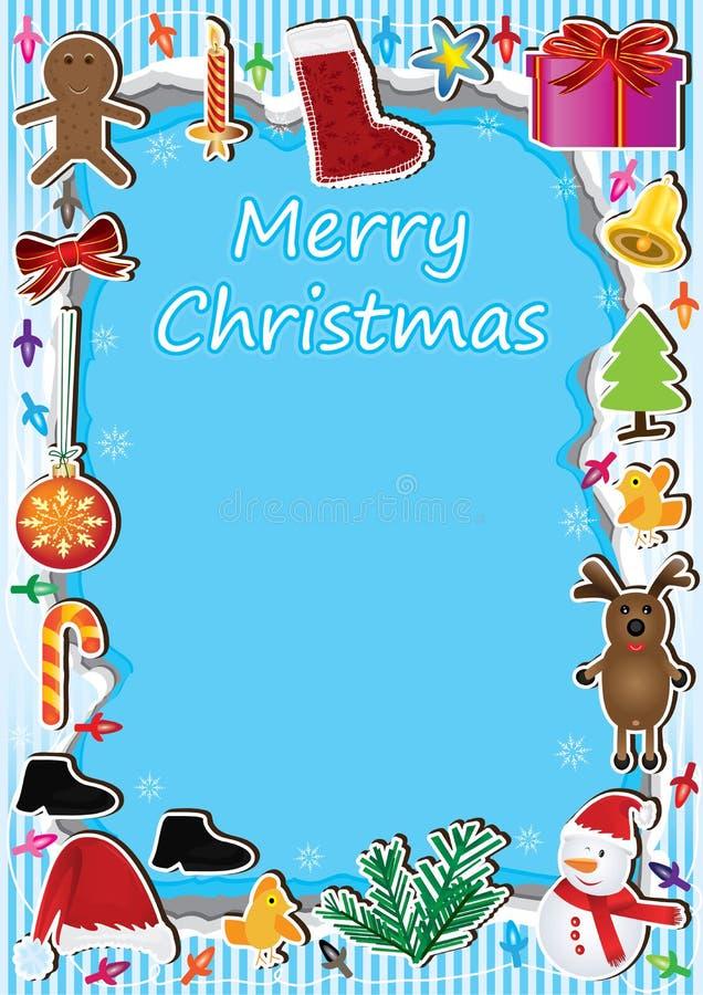 Het Frame Lichte Card_eps van Kerstmis royalty-vrije illustratie