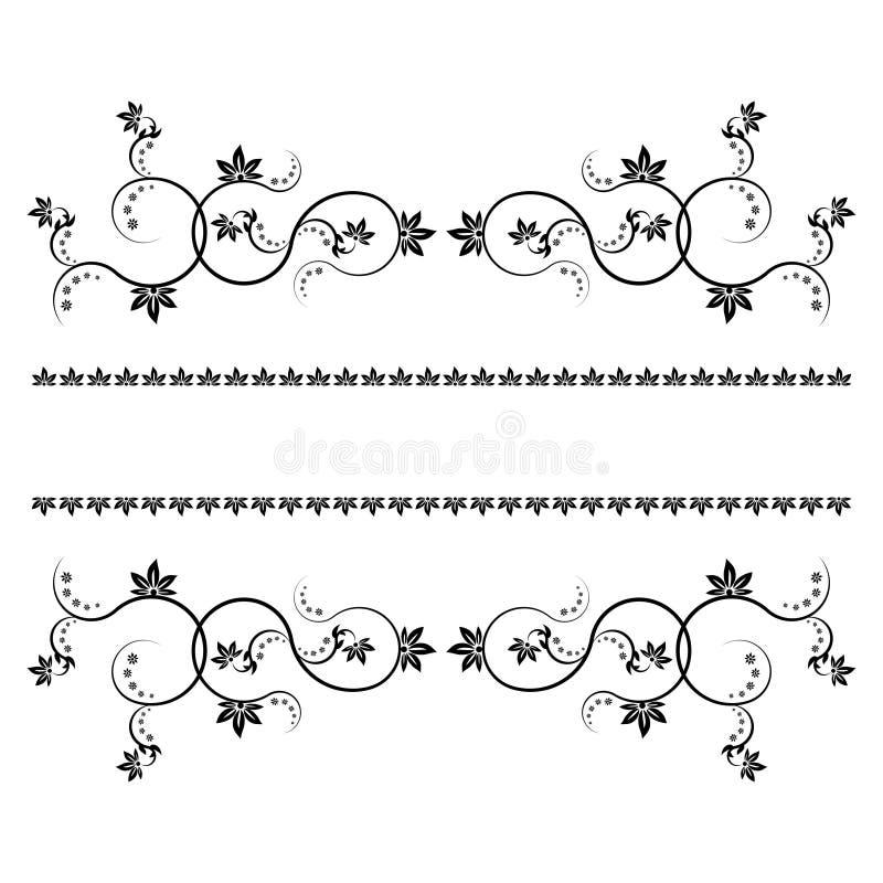 Het frame met monogrammen voor ontwerp en verfraait. vector illustratie