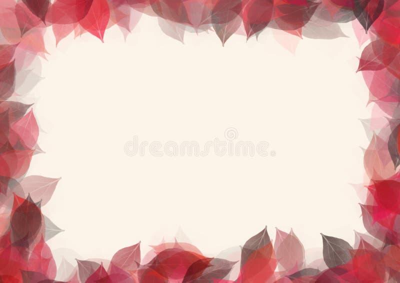 Het frame van bladeren royalty-vrije illustratie