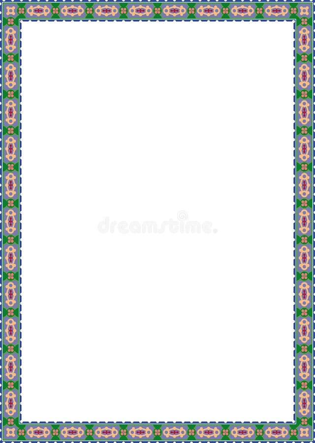 Het frame van bloemen stock illustratie