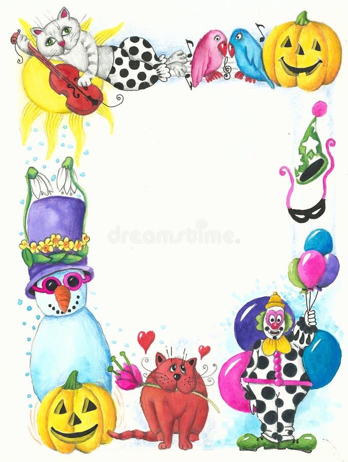 Het frame van Carnaval royalty-vrije illustratie