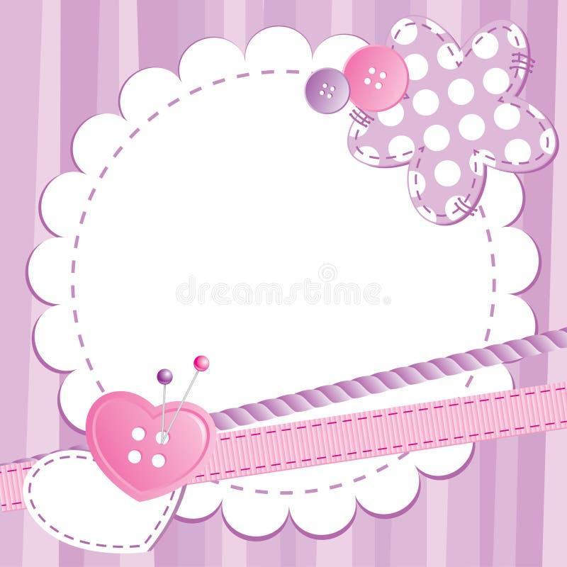 Het frame van de baby stock illustratie
