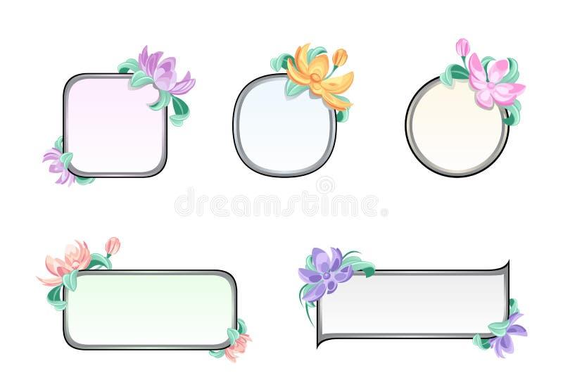 Het frame van de bloem vector illustratie