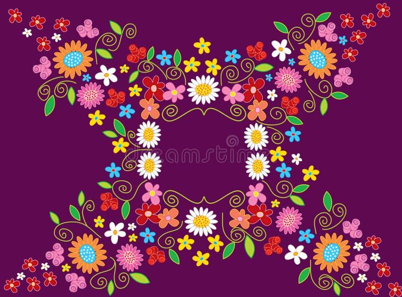 Het Frame van de Bloem van de lente royalty-vrije illustratie