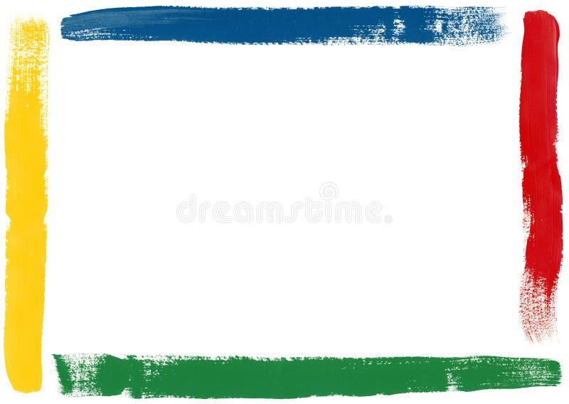 Het Frame van de borstel royalty-vrije illustratie