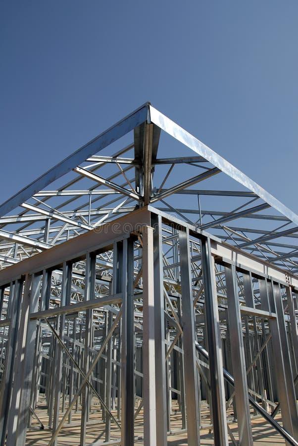 Het Frame van de Bouw van het staal royalty-vrije stock afbeeldingen