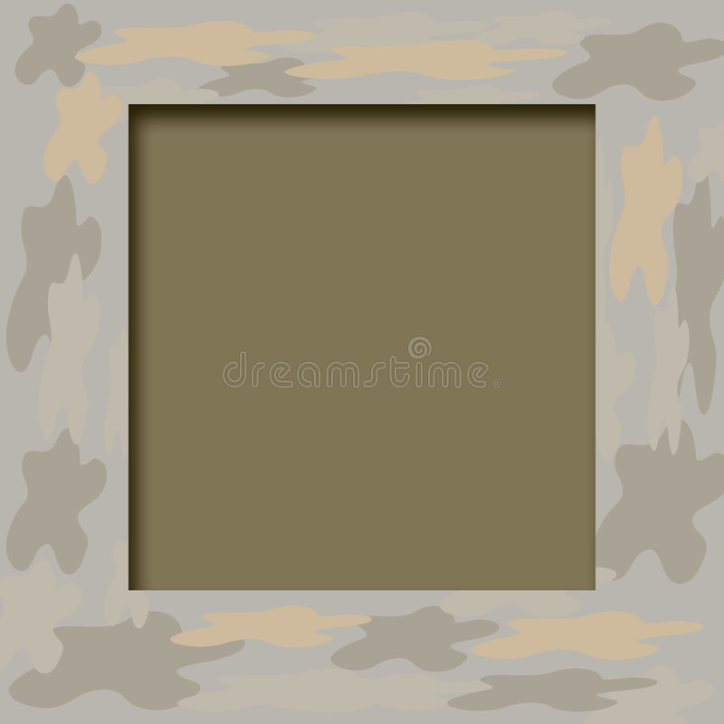 Het frame van de camouflage vector illustratie