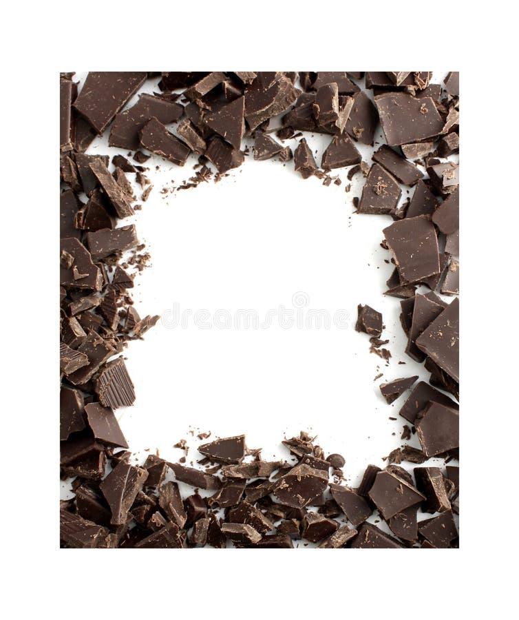Het frame van de chocolade royalty-vrije stock fotografie