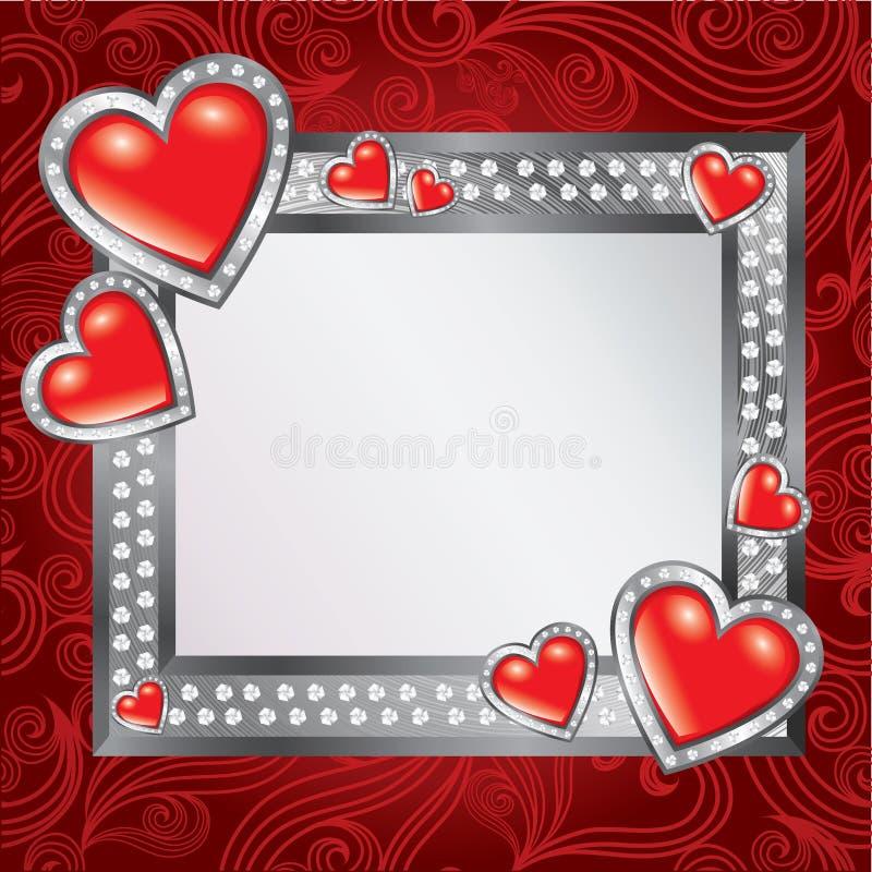 Het frame van de Dag van de Valentijnskaart van heilige stock illustratie