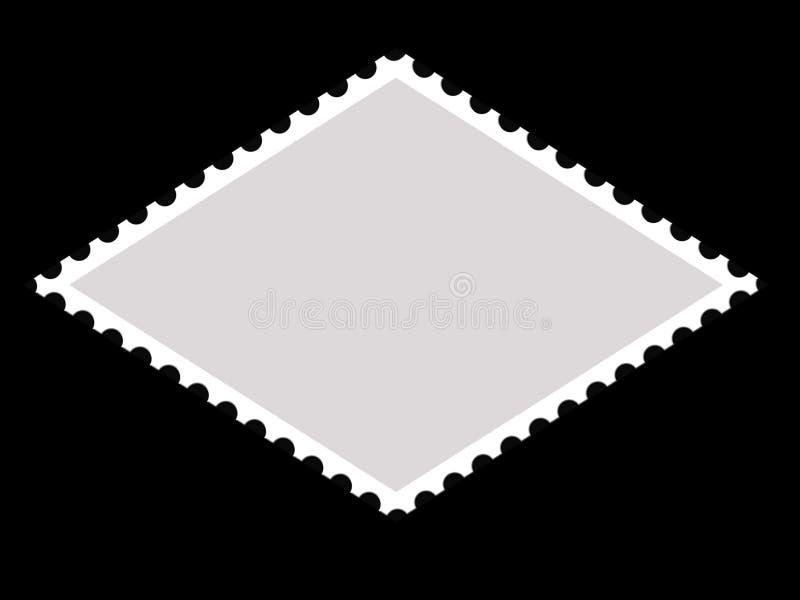 Het frame van de de vormpostzegel van de parallellogram vector illustratie