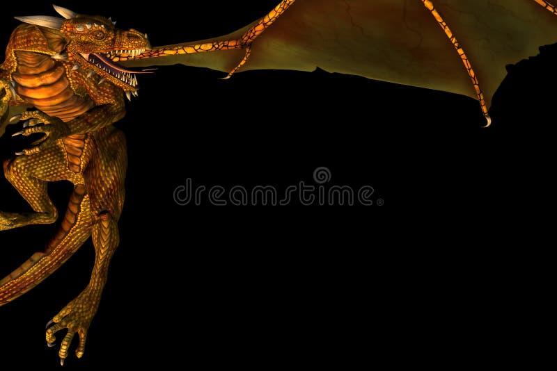 Het frame van de draak stock illustratie