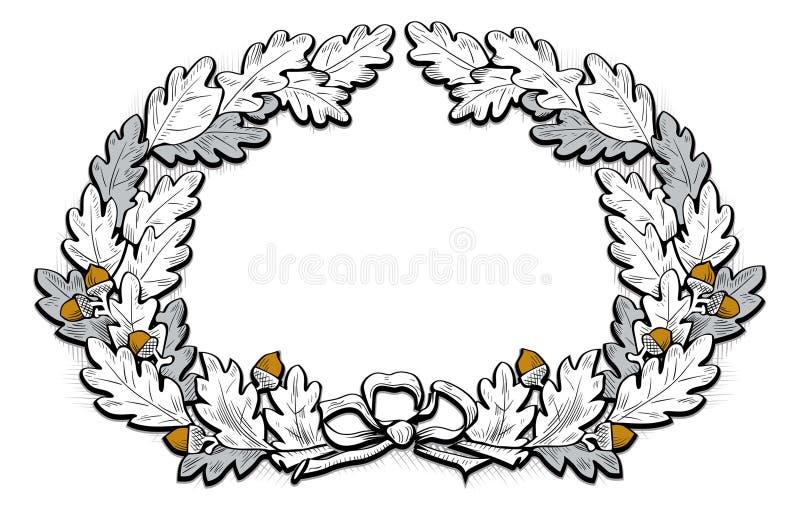 Het frame van de eikel royalty-vrije illustratie