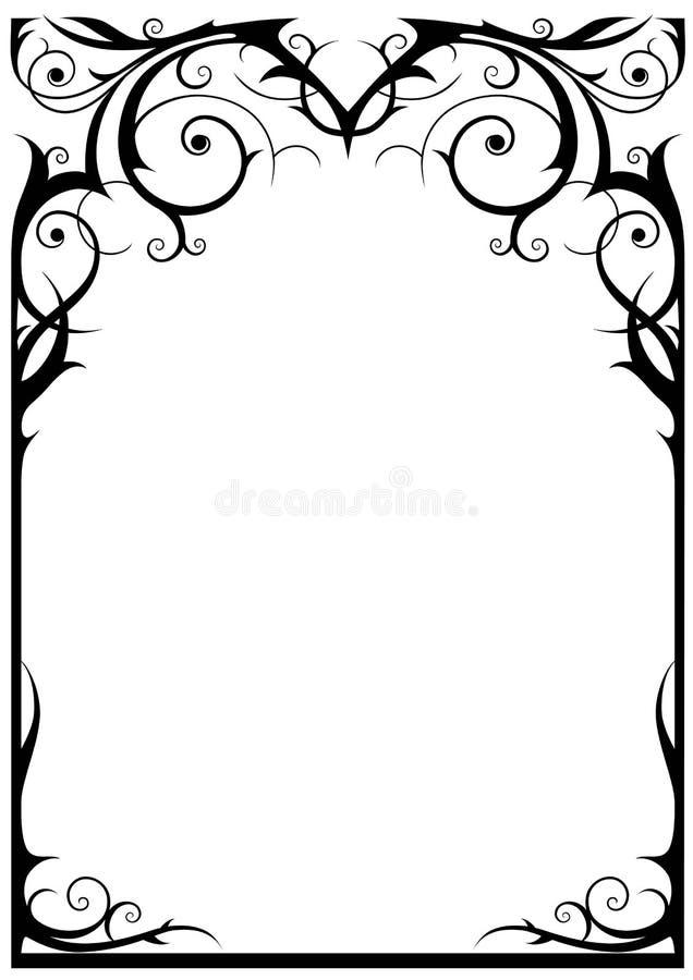 Het frame van de fantasie royalty-vrije illustratie
