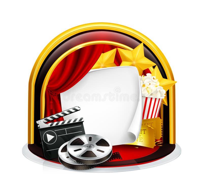 Het frame van de film royalty-vrije illustratie