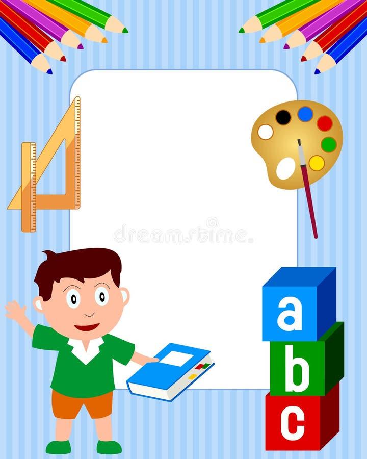 Het Frame van de foto - de Jongen van de School vector illustratie