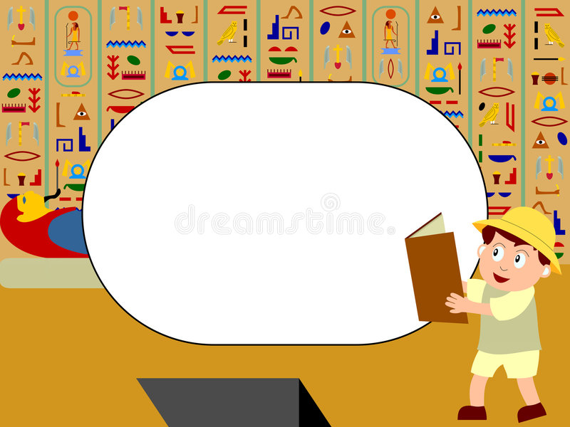 Het Frame van de foto - Egypte royalty-vrije illustratie