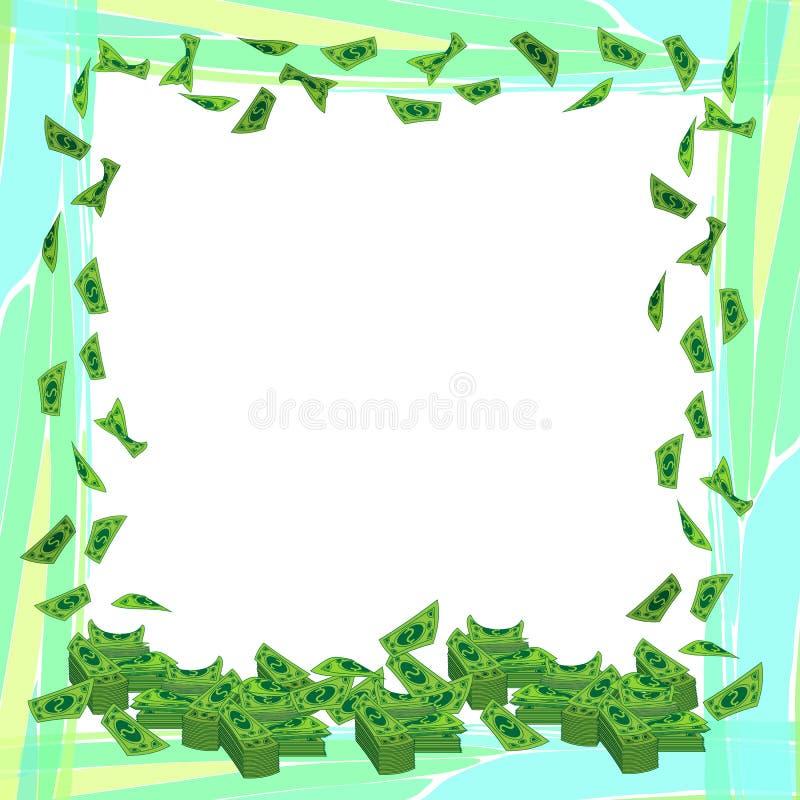 Het frame van de foto Geld Document dollars vector illustratie