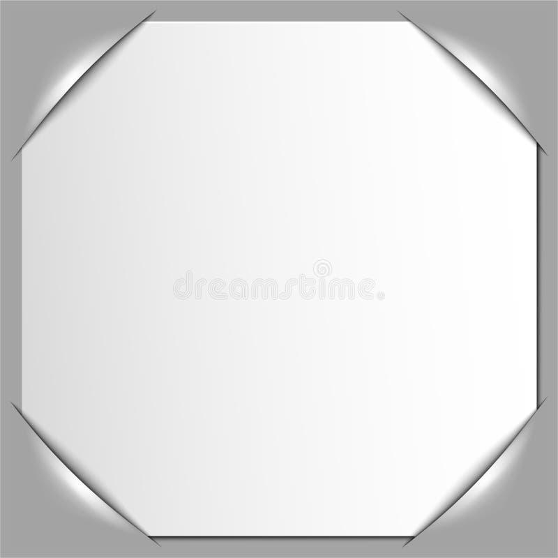 Het frame van de foto hoeken Vector stock illustratie