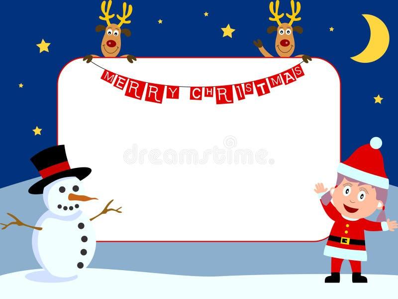 Het Frame van de foto - Kerstmis [2] stock illustratie