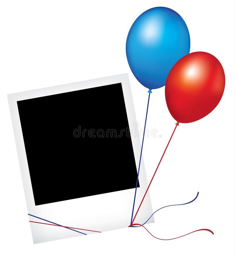 Het frame van de foto met ballons royalty-vrije illustratie