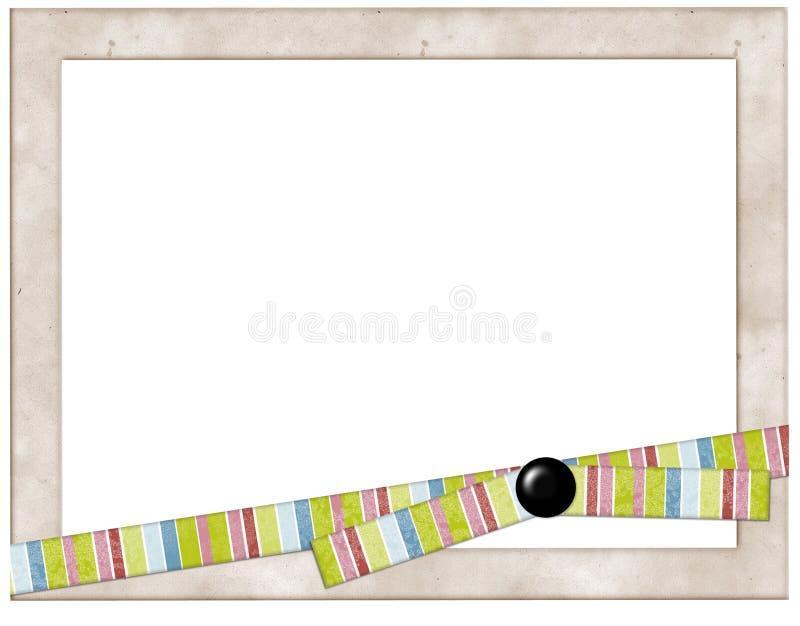 Het Frame van de foto met kleurrijk lint royalty-vrije stock foto's