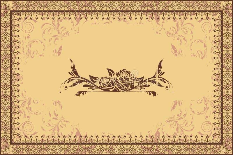 Het Frame van de foto op Grungy Achtergrond stock illustratie