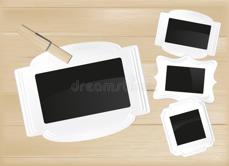 Het frame van de foto reeks vector illustratie