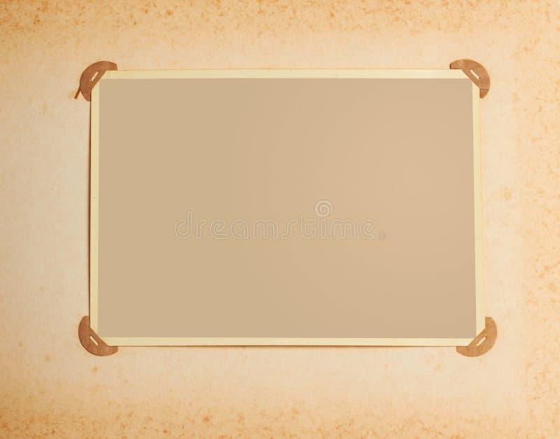 Het frame van de foto in uitstekend album stock illustratie