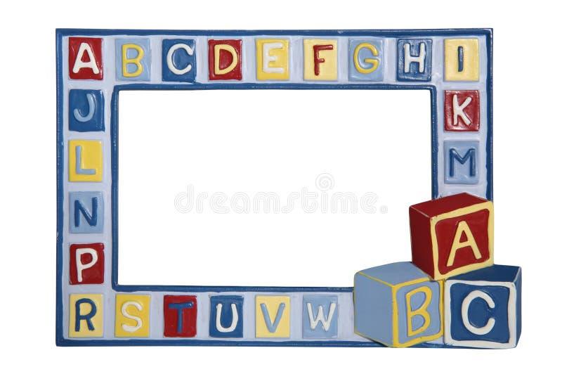 Het Frame van de Foto van de baby stock foto's