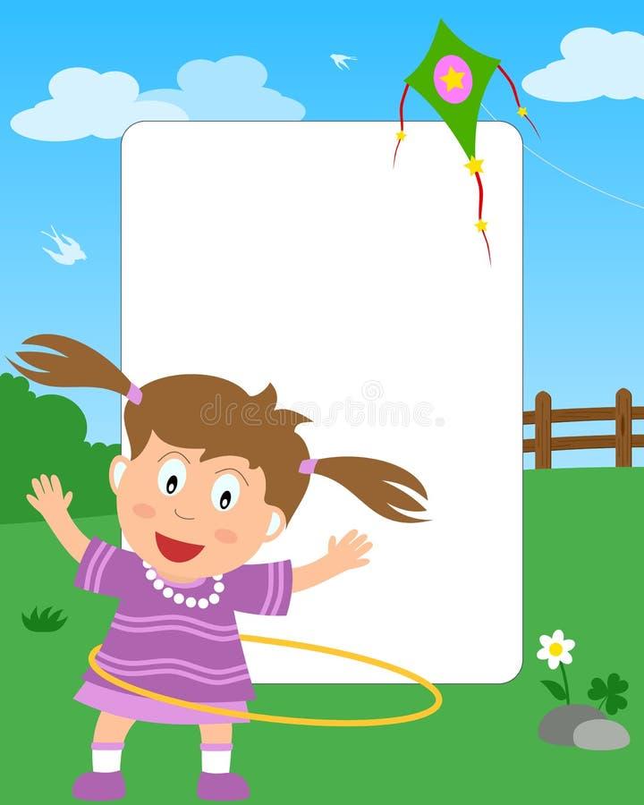 Het Frame Van De Foto Van Het Meisje Van De Hoepel Van Hula Stock Afbeeldingen