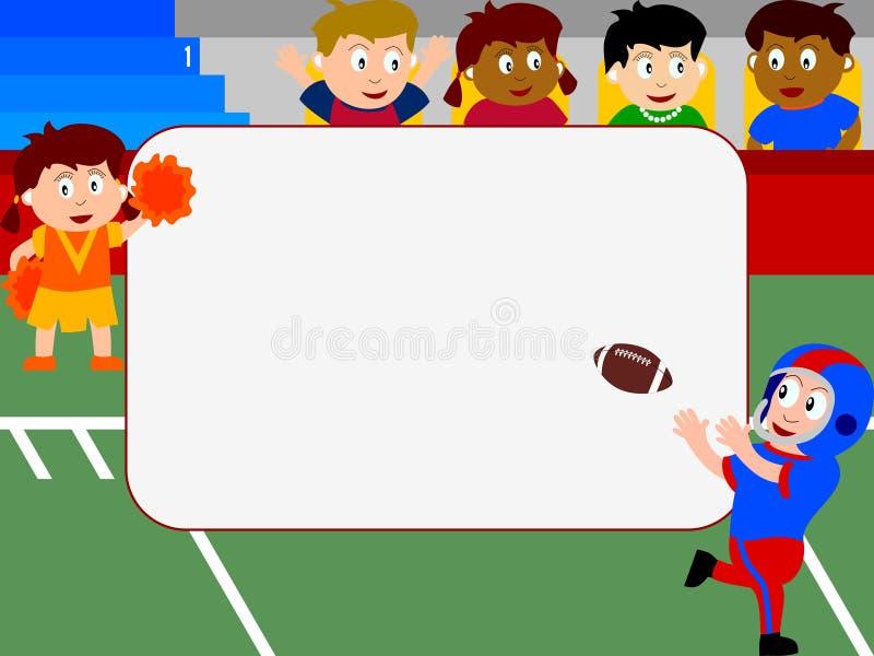 Het Frame van de foto - Voetbal vector illustratie