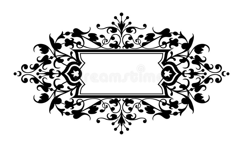 Het frame van de gravure vector illustratie