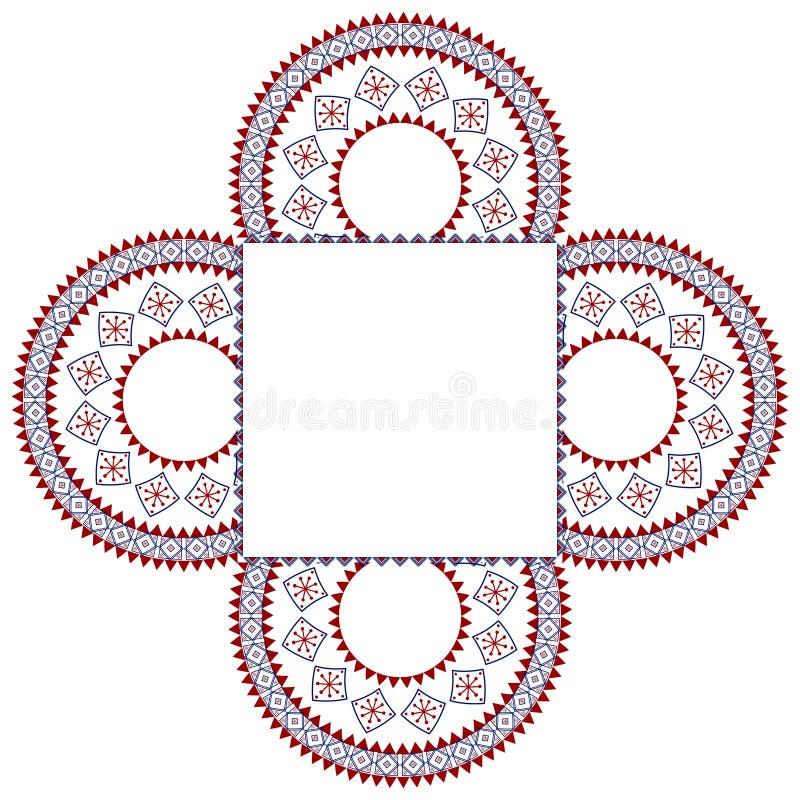 Het frame van de Henna van Colouful stock illustratie