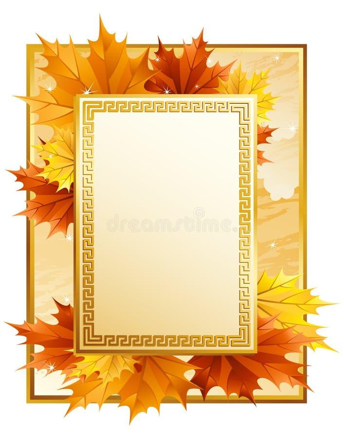 Het frame van de herfst royalty-vrije illustratie