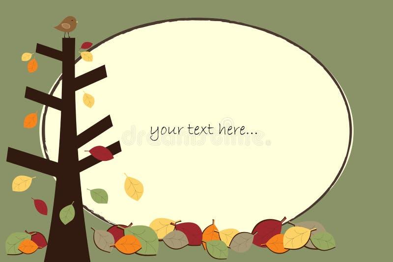 Het frame van de herfst vector illustratie