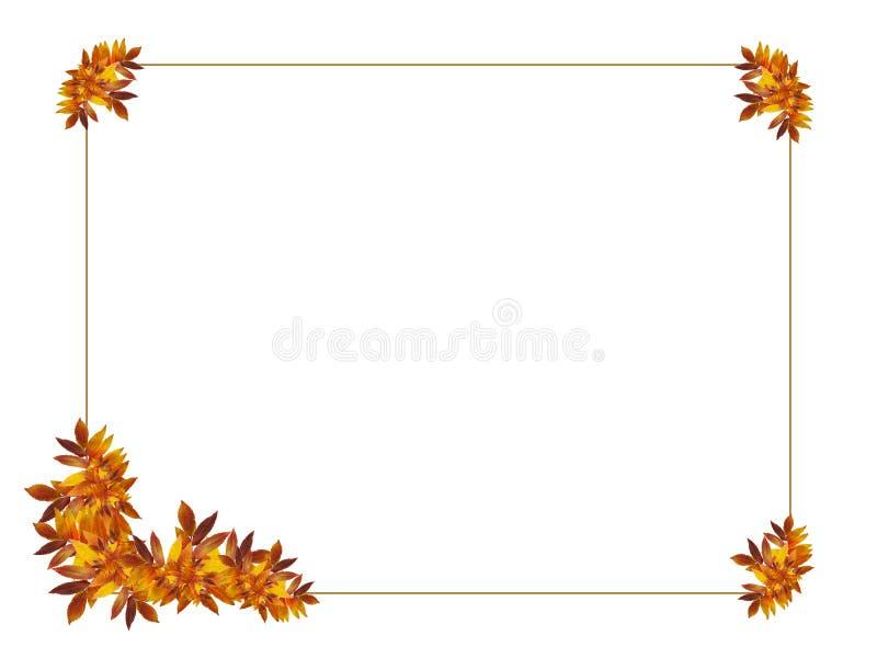 Het frame van de herfst stock illustratie