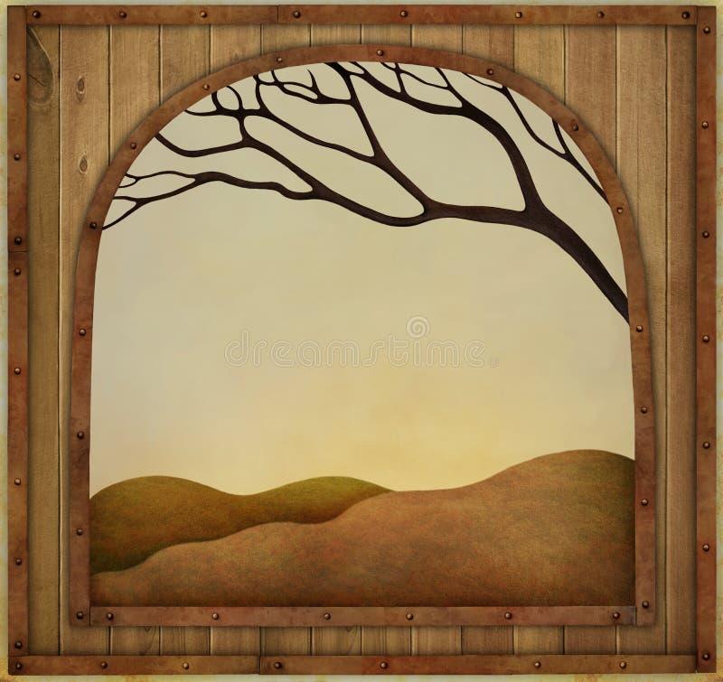 Het frame van de herfst Mooie echte bladeren die op wit worden geïsoleerdg stock illustratie