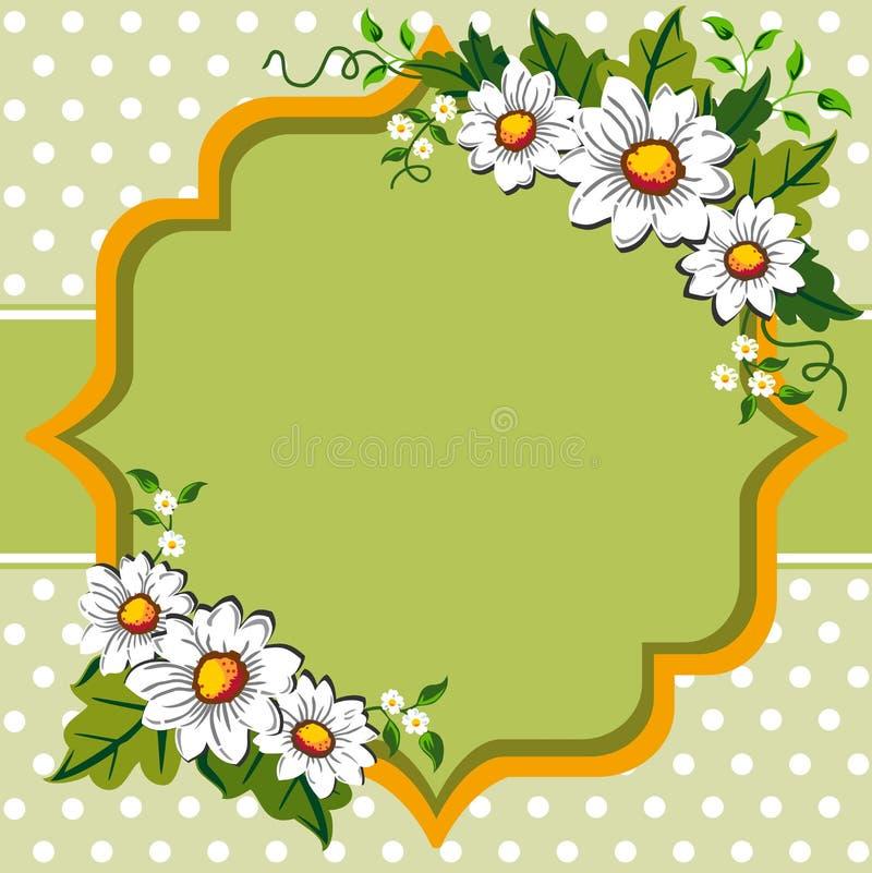 Het frame van de het madeliefjebloem van de lente stock illustratie