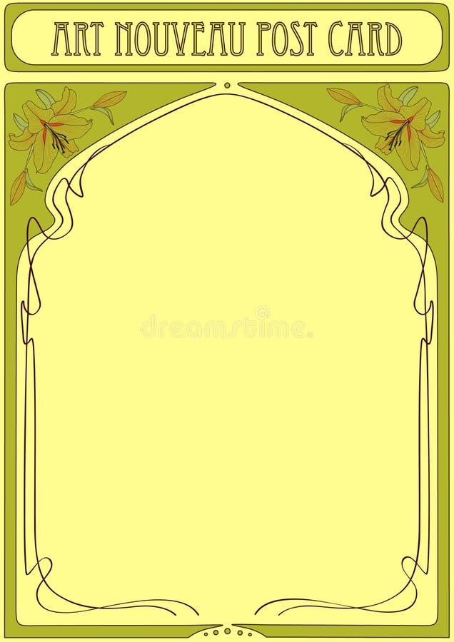 Het Frame van de Jugendstil met ruimte voor tekst stock illustratie