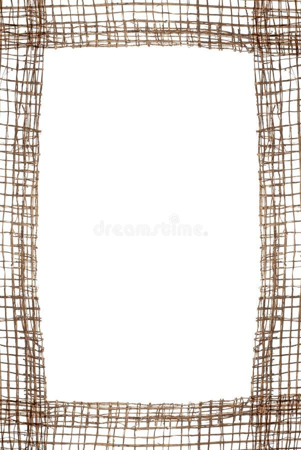 Het frame van de jute royalty-vrije stock afbeeldingen
