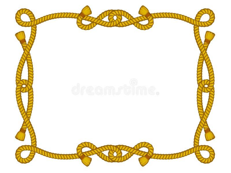 Het frame van de kabel dat op wit wordt geïsoleerdr stock illustratie