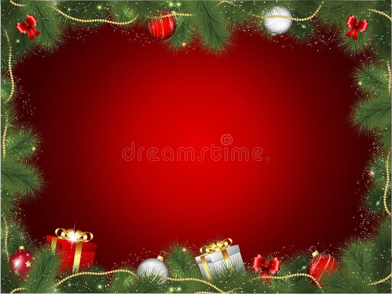 Het frame van de kerstboom vector illustratie