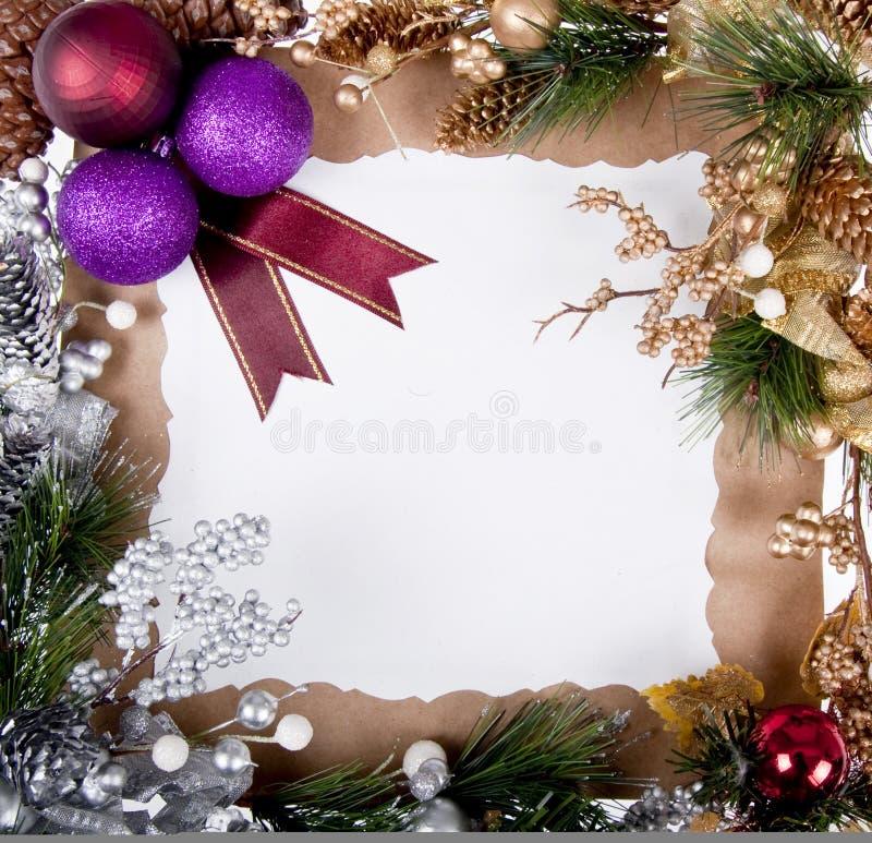 Het frame van de kerstkaart stock foto