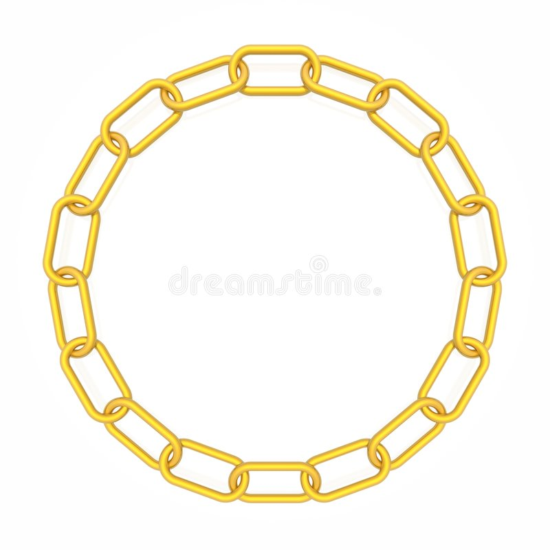 Het frame van de ketting royalty-vrije illustratie