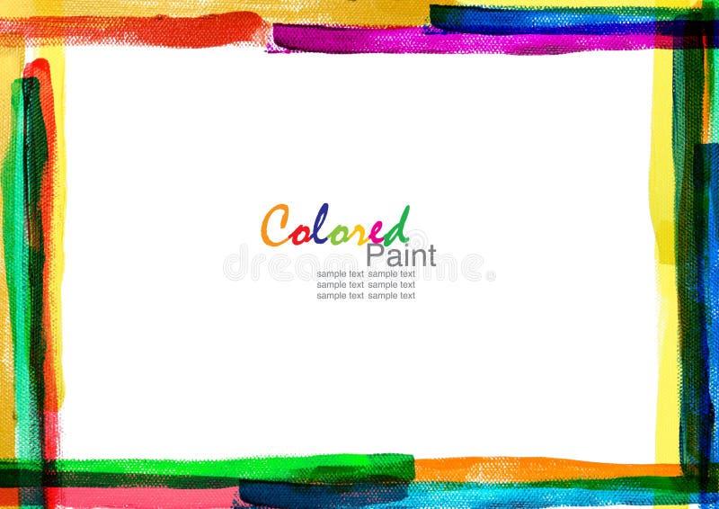 Het frame van de kleur canvas royalty-vrije illustratie