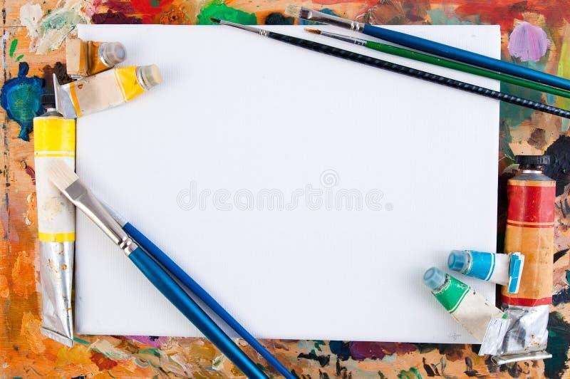 Het frame van de kunst stock afbeeldingen